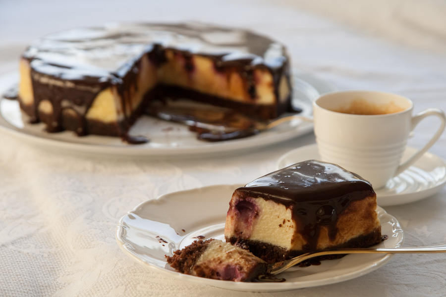חתיכת עוגת גבינה